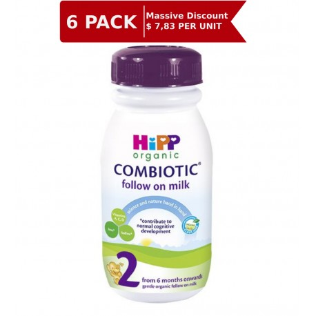 Hipp UK Organic Combiotic Stage 2  Follow on ready to drink 250 ml – From 6 months