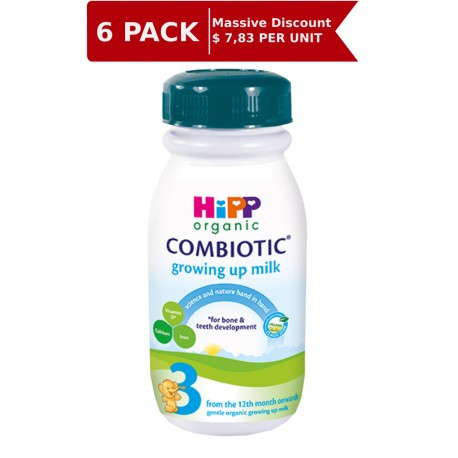 Hipp UK Organic Combiotic Stage 3 Growing up milk ready to drink 250 ml – From 12 months